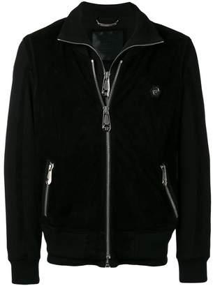 Philipp Plein double-zipped track jacket