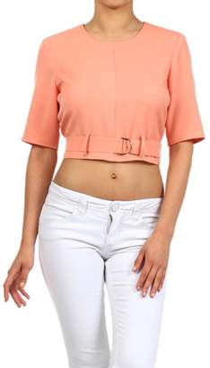 Blvd Belted Crop Top