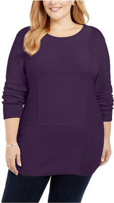 Karen Scott Plus Size Knit Tunic
