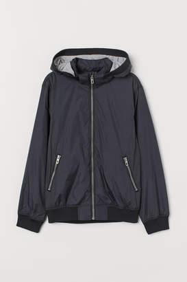 H&M Jersey-lined Nylon Jacket - Black