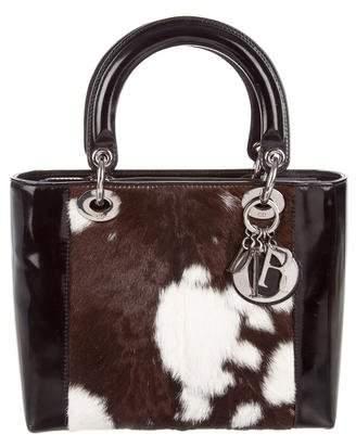 Christian Dior Ponyhair Medium Lady Dior Bag