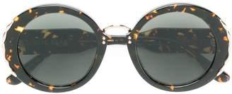 Elie Saab metal embellished round sunglasses