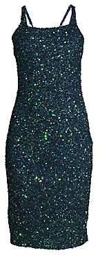 Parker Black Black Women's Sage Beaded Strappy Dress