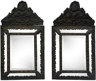 One Kings Lane Vintage Italian Hand-Carved Mirrors - Set of 2 - Antiques on Jackson