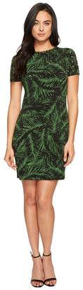 MICHAEL Michael Kors Abstract Palm Dome Stud Dress Women's Dress