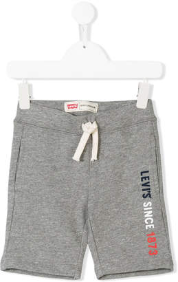 Levi's Kids logo printed shorts