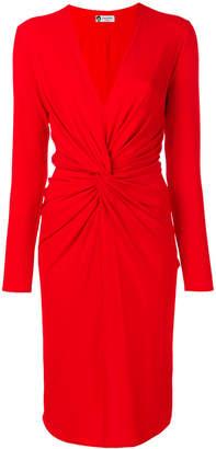 Lanvin plunge neck draped front dress