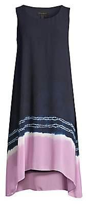 Donna Karan Women's Tie-Dye Dipped Hem Shift Dress