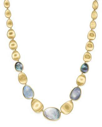 "Marco Bicego 18K Yellow Gold Lunaria Black Mother-Of-Pearl Necklace, 18"" - 100% Exclusive"