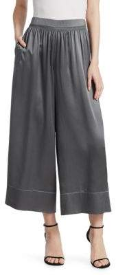 Theory Smocked Silk Culottes