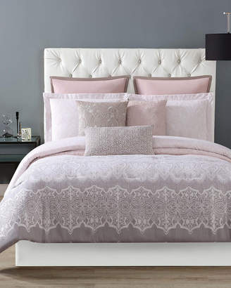 Christian Siriano Ombre Lace Pink Comforter Set