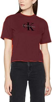 Calvin Klein Jeans Women's Teco-11 True Icon Cn Lwk S/s T-Shirt,X-Large
