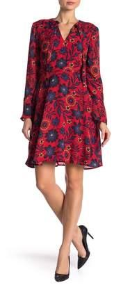 ECI Floral Neck Tie Dress