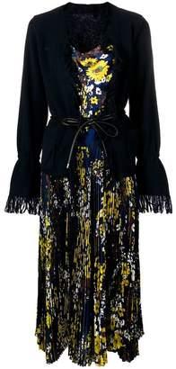 Sacai belted jacket dress