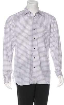 Isaia Plaid Woven Shirt