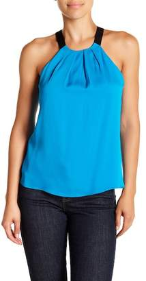 Milly Pleated Silk-Blend Tank Top