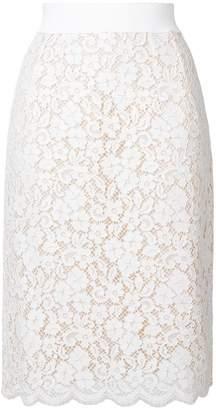 Dolce & Gabbana floral lace skirt