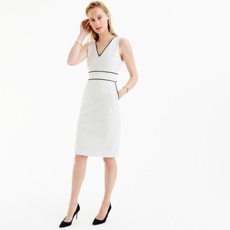 Petite piped dress in stretch cotton $128 thestylecure.com