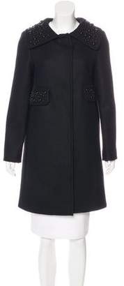 Alberta Ferretti Embellished Wool Coat