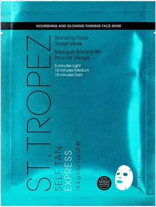 St. Tropez Tanning Essentials Self Tan Express Bronzing Face Sheet Mask