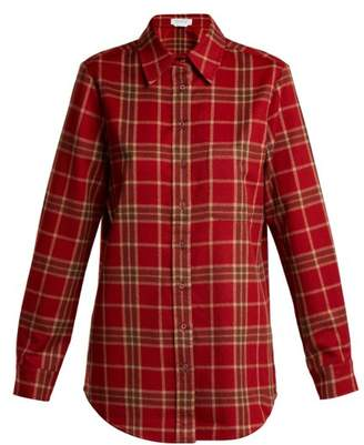 Gabriela Hearst - Marcello Cashmere And Silk Blend Flannel Shirt - Womens - Red Print