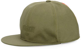 Givenchy Logo Flat-Bill Hat with Wing Print, Khaki