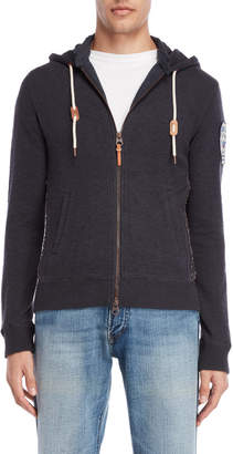 Armani Jeans Navy Zip-Up Slim Hoodie