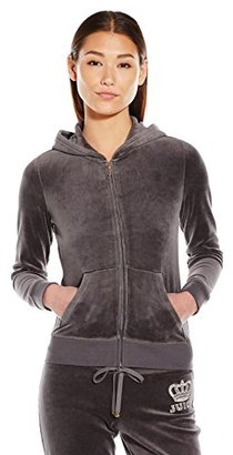 Juicy Couture Black Label Women's Logo Velour Crown Jewel Original Jacket $218 thestylecure.com