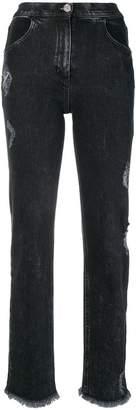 Balmain cropped denim trousers