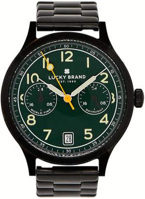Lucky Brand Men's Jefferson Black Stainless Steel Bracelet Watch 38mm