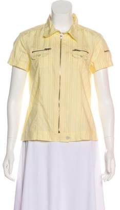 Marc Jacobs Short Sleeve Zip-Up Top