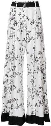 Ann Demeulemeester Blanche floral print palazzo pants