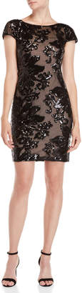 Calvin Klein Black Sequin Sheath Dress