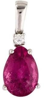 18K Tourmaline & Diamond Pendant