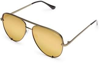 Quay Women's x Desi Perkins High Key Sunglasses, Silver/Silver