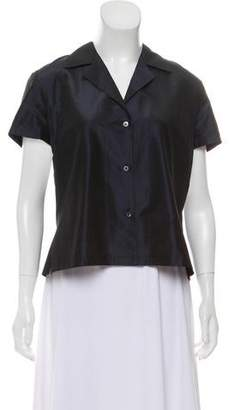 Donna Karan Silk Button-Up Top