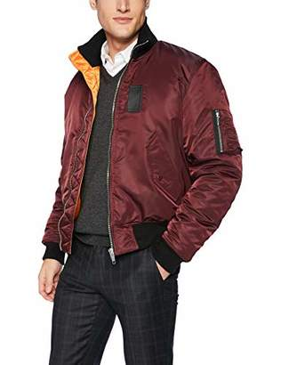 The Kooples Men's Bomber Jacket with High Ribbed Collar