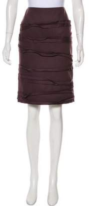 Oscar de la Renta Knee-Length Wool Skirt