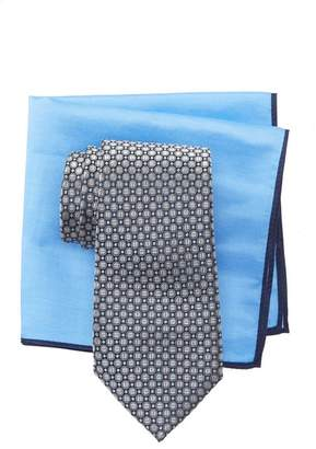 Ted Baker Split Circle Neat Silk Tie & Pocket Square Set