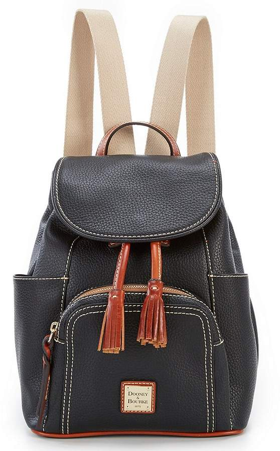 Dooney & Bourke Pebble Collection Medium Murphy Backpack - BLACK - STYLE