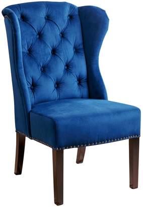Abbyson Living Blue Sierra Tufted Velvet Wingback Dining Chair