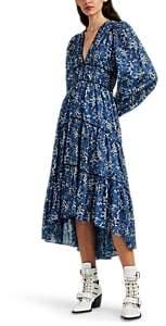 Ulla Johnson Women's Joan Floral Cotton-Silk Dress - Blue