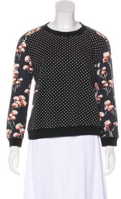 Tory Burch Printed Long Sleeve Sweatshirt