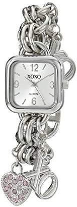 XOXO Women's XO7027 Dial -tone Charm Bracelet Watch