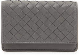Bottega Veneta 5/6 Credit Card Flip Case, New Light Gray