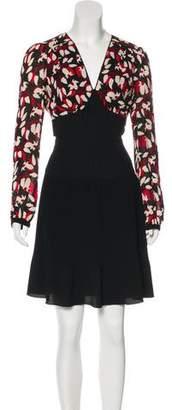 Anna Sui Long Sleeve Mini Dress