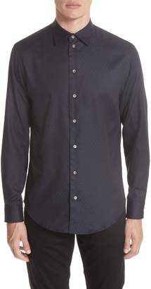 Emporio Armani Regular Fit Stretch Solid Sport Shirt