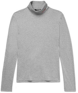 Calvin Klein Slim-Fit Embroidered Cotton-Jersey Rollneck T-Shirt
