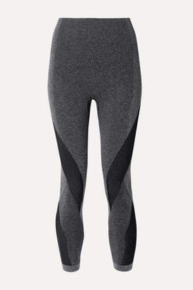LNDR Launch Cropped Paneled Stretch Leggings - Dark gray
