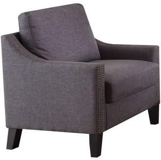 Acme Zapata Nailhead Chair, Grey Linen